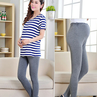 Women Thin Maternity Leggings Pant Cloth for Pregnant Women High Waist Trousers