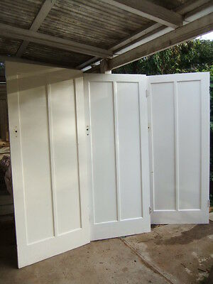 3 x Hardwood Timber 2 PANEL DOOR doors old original period ART DECO recycled