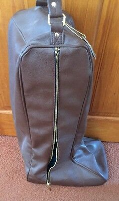 Reeves & Co Chocolate Brown Boot Bag