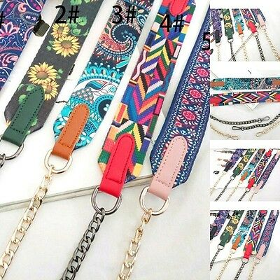 Muti Color HandBag Strap Replacement Colorful Canvas Flower Rivet for Bucket Bag