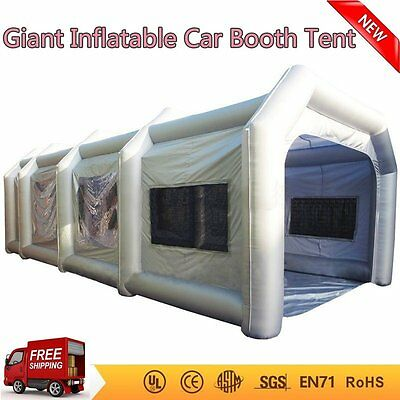 10mx5mx3.5m Portable Giant Oxford Cloth Inflatable Car Spray Booth Paint Tent