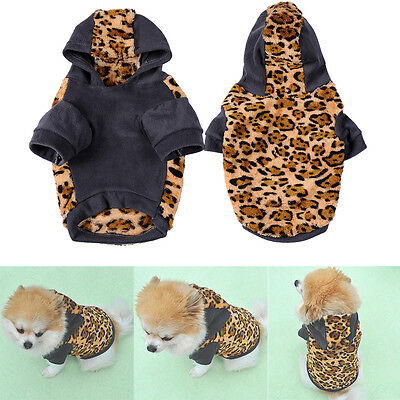 Puppy Pet Dog Clothes Jacket Hoodie Costume Coat Cat Costumes Apparel Winter