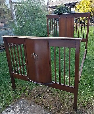 Antique Art Deco Edwardian Double Ended Double Bed P/U Northcote or Trentham