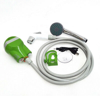 Rechargeable Electric Portable Camping Shower Washer 1.8M Hose USB Cable 2200mAh