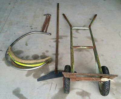 Warrie shearing harness and bale bag trolley