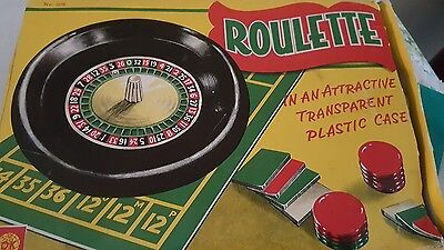 Mini Roulette Wheel - Vintage - Boxed with Rules