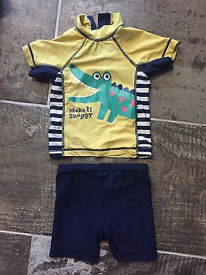 Boys 6-9 Months Swimming Top And Shorts
