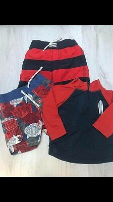 Boys 3-6 Months Baby Gap Swim Set Suit Shorts Top