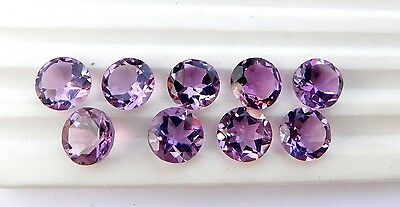21.00 Ct Natural Amethyst Round Cut Lot Loose Gemstone 9 Pieces 9 X 9 MM G-184