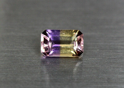 1.38 Cts_Simmering Ultra Very Rare Gemstone_100%natural Bi-Color Ametrine_Africa