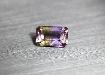 0.73 Cts_Simmering Ultra Very Rare Gemstone_100%natural Bi-Color Ametrine_Africa