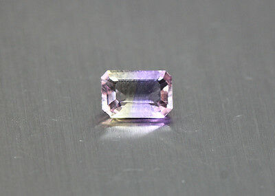 0.76 Cts_Simmering Ultra Very Rare Gemstone_100%natural Bi-Color Ametrine_Africa