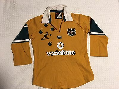 Australia Wallabies Rugby Union Jersey Womens Size 12 Canterbury