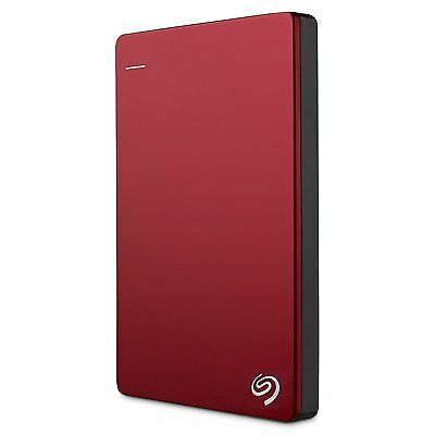 Seagate Backup Plus Slim 1TB Portable External Hard Drive USB 3.0/2.0 - Red