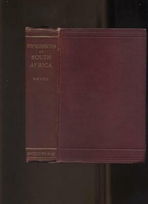 BOER WAR : IMPRESSIONS OF SOUTH AFRICA by by Bryce 1899