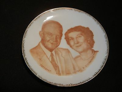 34th President Dwight (Ike) Eisenhower w Mamie collector plate made in Japan