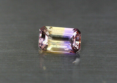 1.31 Cts_Simmering Ultra Very Rare Gemstone_100%natural Bi-Color Ametrine_Africa