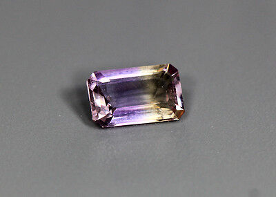 1.03 Cts_Simmering Ultra Very Rare Gemstone_100%natural Bi-Color Ametrine_Africa