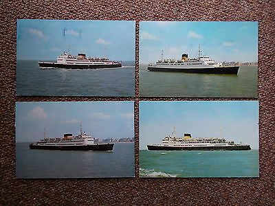 X4 Ostende To Dover Ferry-Ship  Postcards - Bulk Lot -X4 -Used