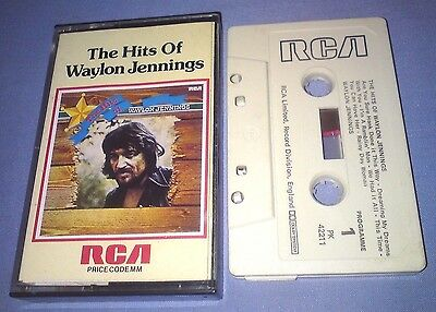 WAYLON JENNINGS THE HITS OF cassette tape album T4027
