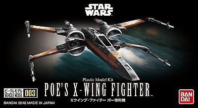 BANDAI Star Wars VEHICLE MODEL 003 POE'S X-WING FIGHTER Model Kit NEW from Japan