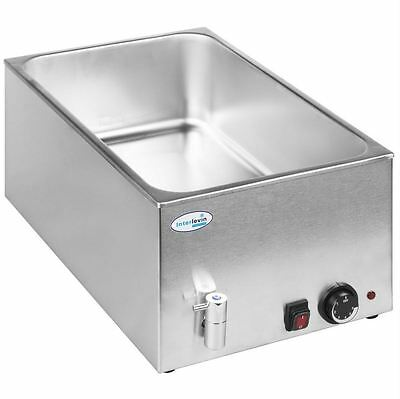 Interlevin BM8710 Wet Well Bain Marie Warmer with Taps & Warranty - NEW
