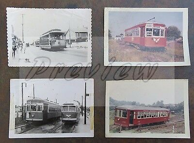 Lot of 4 Trolley Photos from Pennsylvania and New Jersey