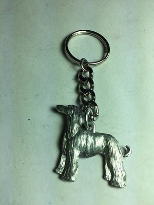 Dog Keychain Afghan Dog Made Of Pewter