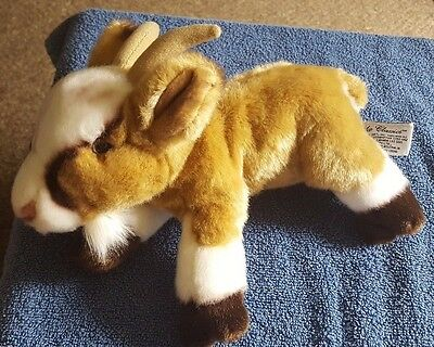 "Russ Berrie Yomiko Classics Mountain Goat 11"" Plush Soft Cuddly Stuffed Toy"