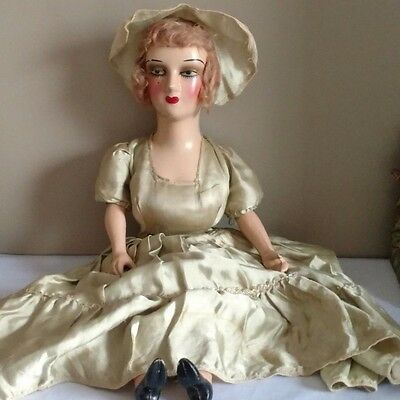 """Antique Boudoir 26"""" Composition Head and Shoulder, Lower Arms & Legs w/Eyelashes"""