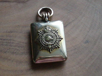 Antique Ww1 Military Regimental Army Photo Locket Pendant Fob