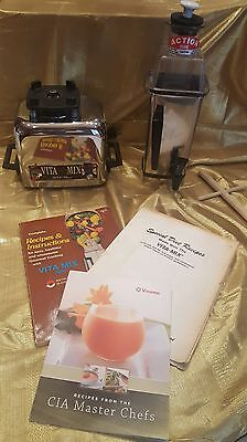 Vintage Vitamix 3600 Plus+ Blender w/Action Dome VitaMix w/3 Books Made In USA