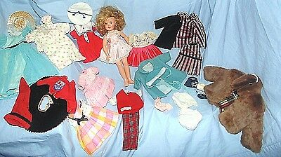 """1950's IDEAL Shirley Temple Doll - Antique/Vintage 12"""" Tall - With outfits"""