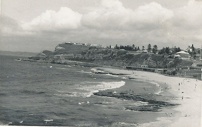 "NEWCASTLE. NSW.    Real Photo Postcard. ""NEWCASTLE  SOUTH  BEACH""."