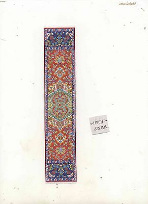 Rug  83R Runner  miniature dollhouse woven carpet 1pc 1//12 scale made in Turkey
