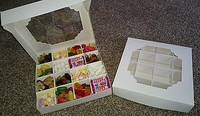 Truffle/sweet/cake box & divider available in pks 5/10/15/20/25 multiple colours
