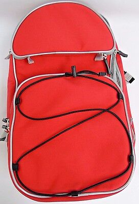 CLEARANCE - Small Red Medical Device Backpack/Bag - Reflective Piping/Lock Zips