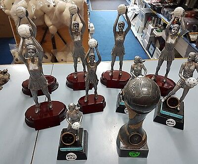 10 x New Netball Trophies Discontinued items