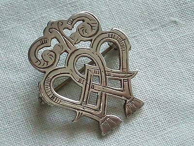 Rare Vintage Scottish Orkney Silver Ola Gorie Luckenbooth Sweetheart Brooch