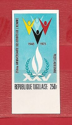 Togo,  Human Rights  Imperf. MNH.