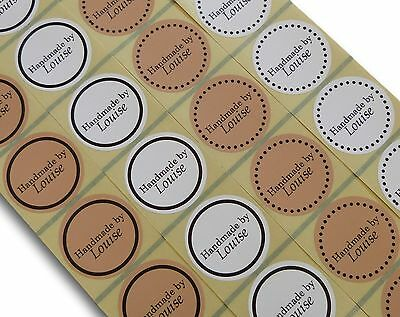 45Mm Kraft Brown Or White Round Personalised Handmade By Labels Stickers