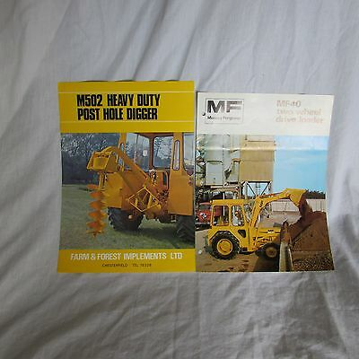Massey  Ferguson 40  Tractor Sales Brochure & F And Forest Brochure.