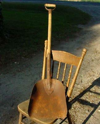 "ANTIQUE RAILWAY ENGINEER FIREMAN'S COAL SHOVEL STOKER-STAMPED ""BRADES Co. 1171"""