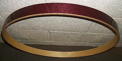"""TAMA ROCKSTAR ---- 22""""---- Wood BASS DRUM HOOP - With Wine Red Covering - (RS24)"""