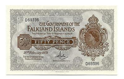 50 pence - Fifty pence Falkland Islands banknote, ND(1974), P-10b, aUNC-UNC
