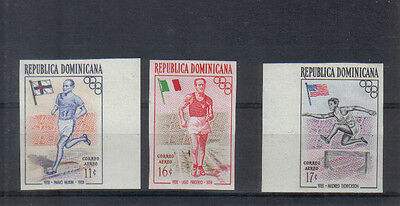 Dominican Republic 1957 Olympic Games Air set imperf unmounted mint