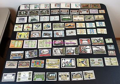 74 Different Banknotes Germany Notgeld Emergency Currency Mixed Lot Of Cities+++