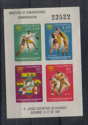 Bolivia 1961 4th Bolivatian Games miniature sheet lightly mounted mint