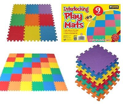 Multicoloured Eva Interlocking Flooring Activity Soft Foam Mat Set Tiles Kids
