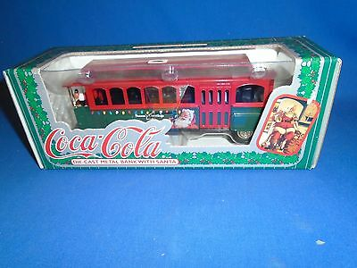 Ertl Coca-Cola Die Cast Metal Bank With Santa 1995 Nib Collectible